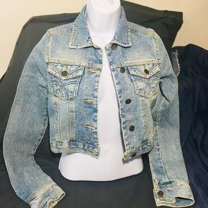 Hollister Small Women's Light Wash Denim Jacket